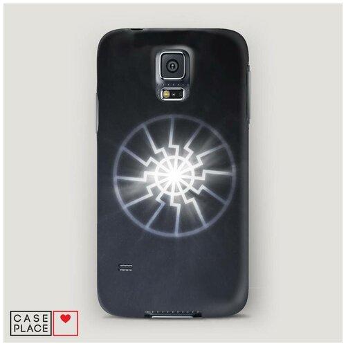 Чехол Пластиковый Samsung Galaxy S5 Черное солнце