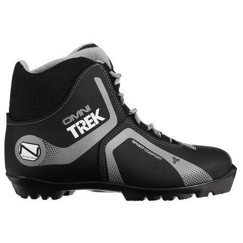 Trek Ботинки лыжные TREK Omni 4 NNN, цвет чёрный, лого серый, размер 37