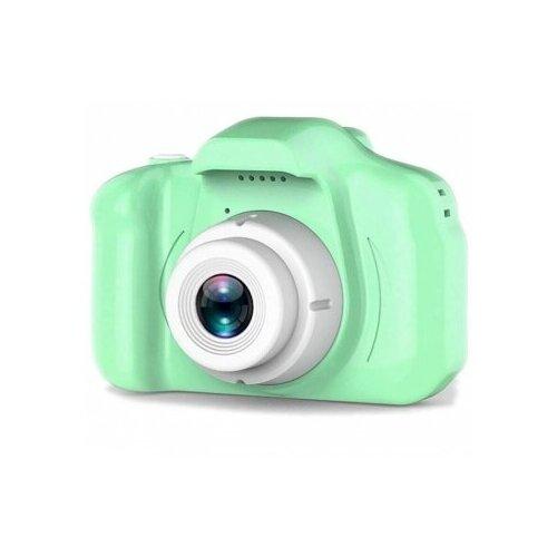 Фото - Детский цифровой фотоаппарат X2 противоударный в защитном корпусе Зеленый / Kids Camera детский цифровой фотоаппарат собачка розовый kids camera pink