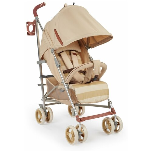 Коляска-трость Happy Baby CINDY, съемный бампер, sand happy baby коляска трость happy baby twiggy green