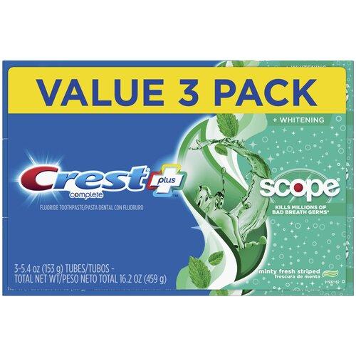 Crest Complete + Scope Minty Fresh – Набор из 3 зубных паст