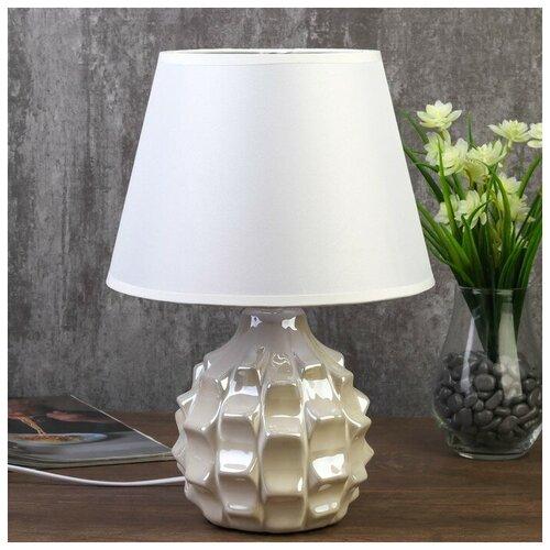 RISALUX Лампа настольная 7555100TL/1 E14 40Вт жемчужный 22х22х32 см