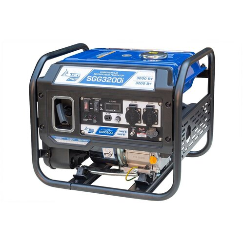 Бензиновый генератор ТСС SGG-3200i (3000 Вт) инверторный бензиновый генератор тсс ggw 5 0 200ed r 22957 сварочный 98кг бензин 5квт 220 12в