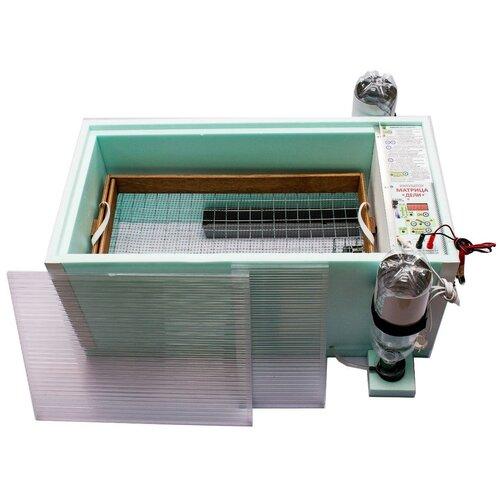 Инкубатор для яиц Матрица Дели на 72 яйца с автоматическим переворотом (12/220В) голубой