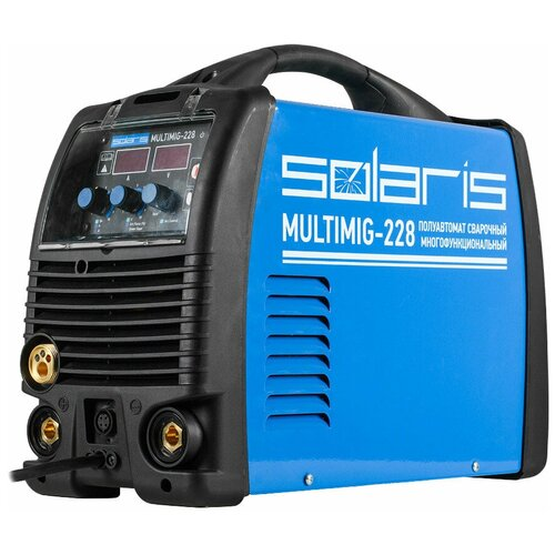 Сварочный аппарат инверторного типа Solaris MULTIMIG-228 (MIG-MAG-TIG) с TIG горелкой TIG, MIG/MAG, MMA