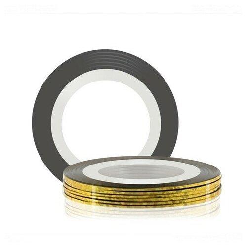 RUNAIL RuNail, лента для дизайна ногтей (золотая,голографическая), 20 м