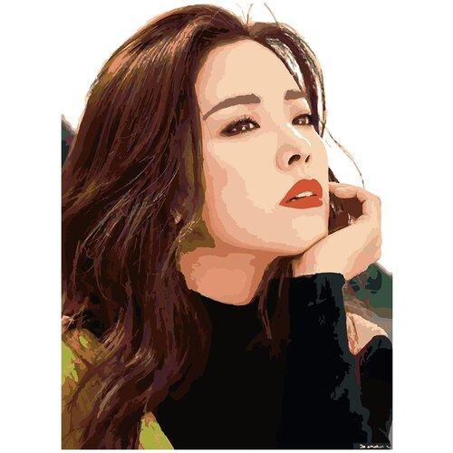 Купить Картина по номерам Хан Джи Мин, 60 х 70 см, Красиво Красим, Картины по номерам и контурам