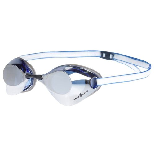 Очки для плавания стартовые Turbo Racer II Mirror, M0458 07 0 03W, цвет голубой очки для плавания mad wave turbo racer ii black orange