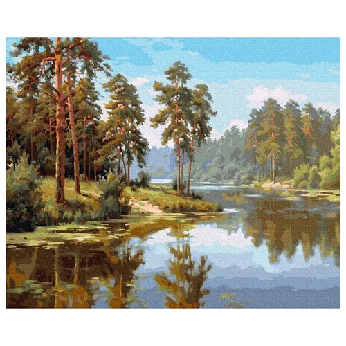 Molly Картина по номерам Сосны у воды 40х50 см (KH0984)