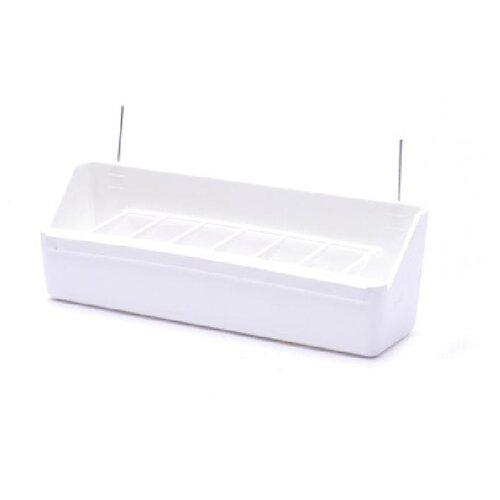Benelux аксессуары кормушка для птиц для вольера малая белая 20*6*4 см (feeder aviary small white) 14180.., 0,060 кг