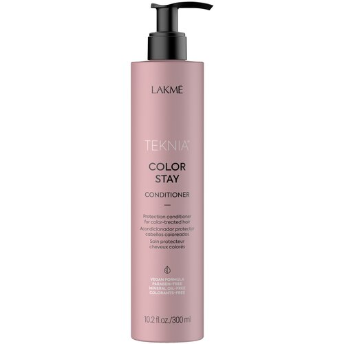 Фото - Lakme кондиционер Teknia Color Stay для защиты цвета окрашенных волос, 300 мл lakme дорожный набор восстанавливающий шампунь 100 мл кондиционер 100 мл маска 50 мл lakme teknia