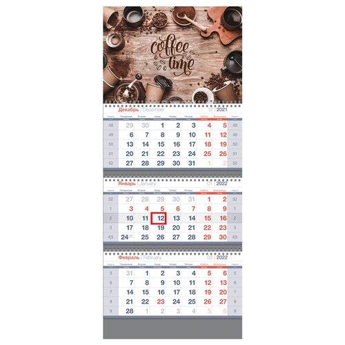 Купить Календарь квартальный настенный на 2022 год Coffe time , OfficeSpace, Календари