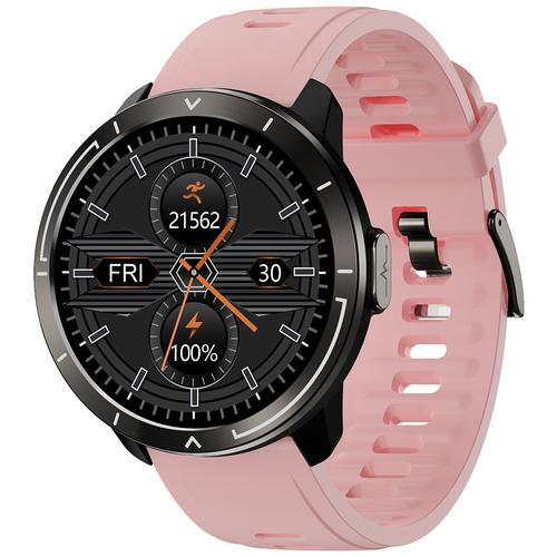 Часы Smart Watch M18plus GARSline черные (ремешок розовые)