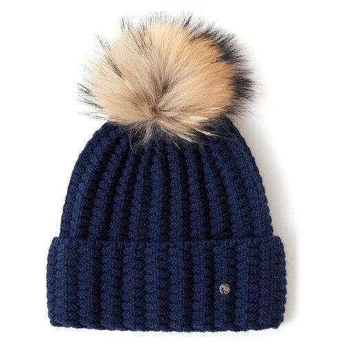 шапка женская finn flare цвет ярко синий a20 11148 111 размер 56 Шапка женская Finn Flare, цвет: синий A20-12135_100, размер: 56