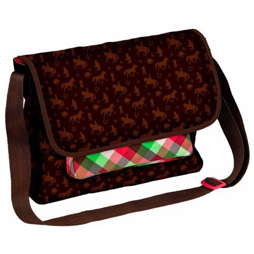 Сумка-мессенджер женская Spiegelburg, текстиль, коричневый