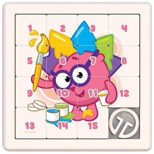 Головоломка Нордпласт Собирашки Смешарики Ежик (835) белый/розовый нордпласт игра логическая собирашки смешарики крош 834