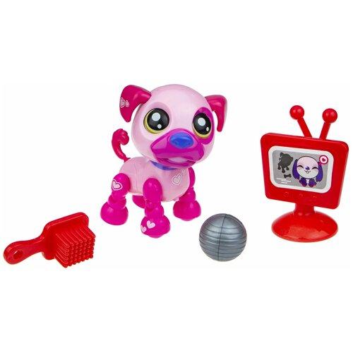 Фото - Робот 1 TOY Robo Pets Озорной щенок Т16937 розовый робот 1 toy robo pets котёнок белый голубой