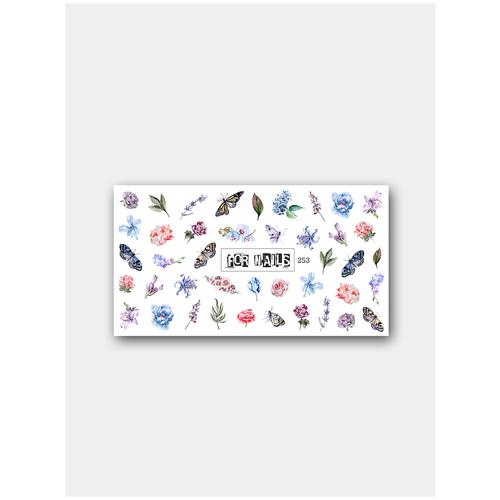 Купить Слайдер (водные наклейки) для дизайна ногтей FN253 Весна Цветы, FOR NAILS