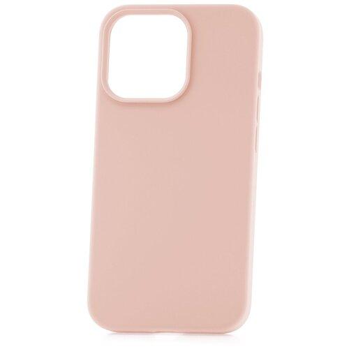 Чехол для Apple iPhone 13 Pro Derbi Soft Plastic-3 розовый песок / чехол на айфон / противоударный чехол на айфон / однотонный чехол / чехол с защитой углов / чехол для Эпл Айфон / бампер на айфон / защитный чехол для iPhone / бампер для iPhone / софт тач чехол / бархатный чехол на айфон / чехол с высоким бортиком для iPhone / чехол с защитой камеры на айфон / силиконовый чехол / пластиковый бампер / защита для айфон 13 про / iphone 13 pro
