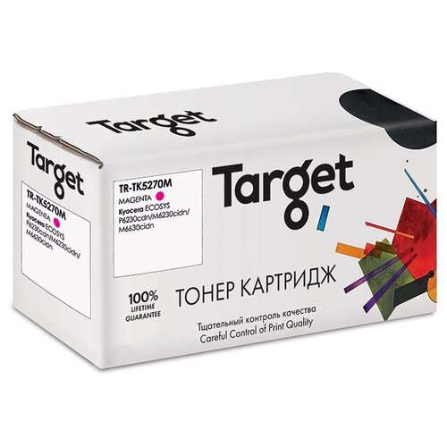 Фото - Картридж Target TR-TK5270M Magenta для Kyocera ECOSYS P6230cdn/M6230cidn/M6630cidn картридж target tr ce273a magenta для hp lj cp5520