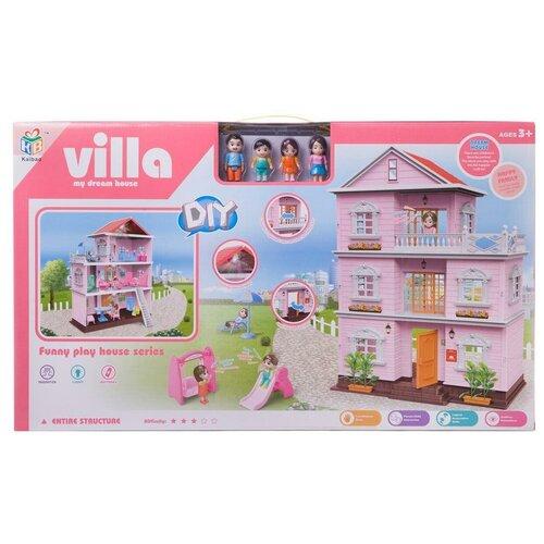 Кукольный дом Junfa 3-этажный сборный
