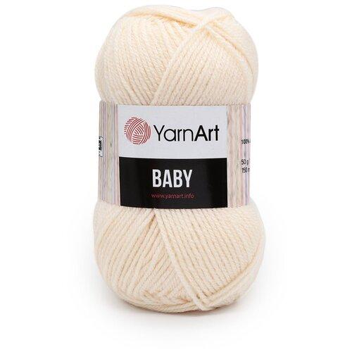 Фото - Пряжа YarnArt 'Baby' 50гр 150м (100% акрил) (854 св. коралл), 5 мотков пряжа yarnart baby 50гр 150м 100% акрил 1182 коричневый 5 мотков