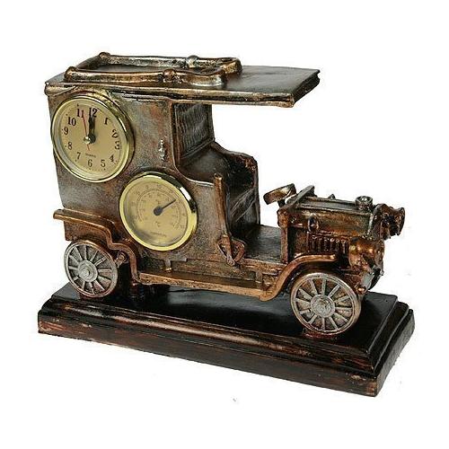 Часы-термометр Русские подарки Автомобиль бронза