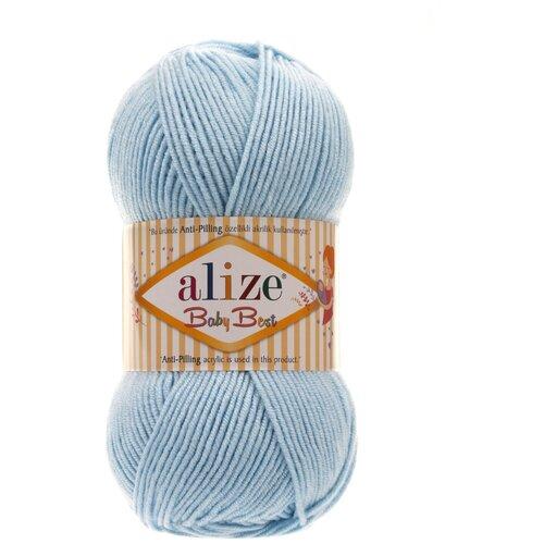 Купить Пряжа Alize Baby Best , 240 метров, 5 мотков по 100 грамм, цвет: 40 голубой