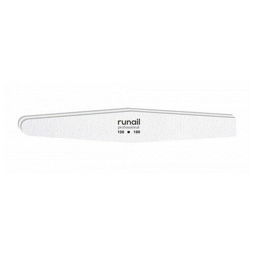 Купить RUNAIL RuNail, пилка для искусственных ногтей (белая, ромб, 100/180), Runail Professional