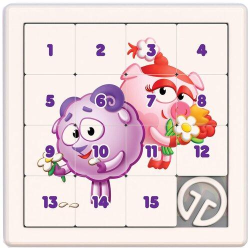 Головоломка Нордпласт Собирашки Смешарики Нюша и Бараш (863) белый/розовый/фиолетовый нордпласт игра логическая собирашки смешарики крош 834
