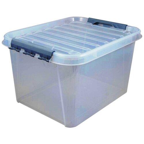 Ящик для хранения с защелками на крышке ПРОФИ Комфорт 36 литров прозрачный Полимербыт ящик для хранения полимербыт с крышкой прозрачный пластик 16л