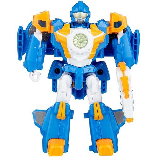 Купить Трансформер YOUNG TOYS Tobot Mini Мach W 301061 голубой/оранжевый, Роботы и трансформеры