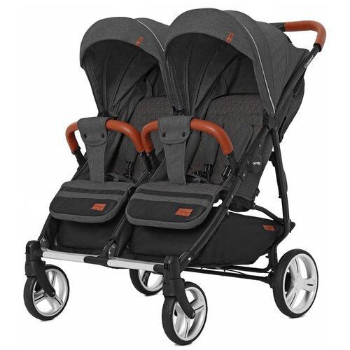 Купить Прогулочная коляска для двойни CARRELLO Connect CRL-5502, serious black, Коляски