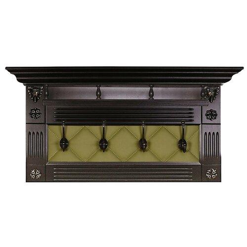 Вешалка Мебелик Сильвия Н5 оливковый/венге банкетка мебелик сильвия венге оливковый