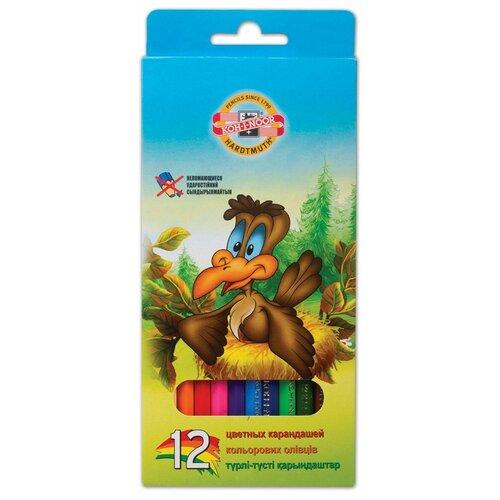 Купить KOH-I-NOOR Карандаши цветные Birds, 12 цветов (3552012002KSRV), Цветные карандаши