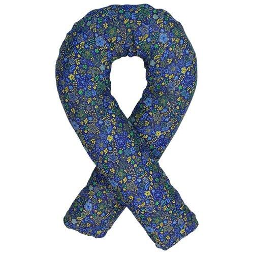 Фото - Подушка Body Pillow для беременных U холлофайбер, с наволочкой из хлопка синий в желтых цветах подушка body pillow для беременных u холлофайбер с наволочкой из хлопка коричневый с бежевыми вензелями