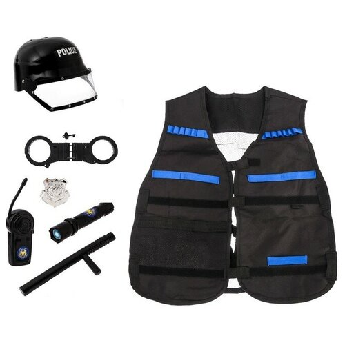 Купить Набор полицейского Супергерой , 7 предметов 3537907, Сима-ленд, Полицейские и шпионы