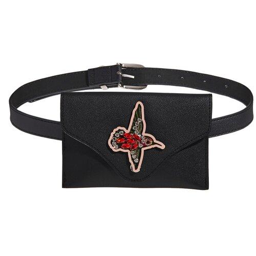 Поясная сумка Эйфория Nothing But Love (черный; ярко-красный; серебристый) 17,5*11,5*1 см