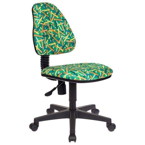 Компьютерное кресло Бюрократ KD-4 Карандаши детское, обивка: текстиль, цвет: зеленый компьютерное кресло бюрократ ch 204nx детское детское обивка текстиль цвет синий карандаши