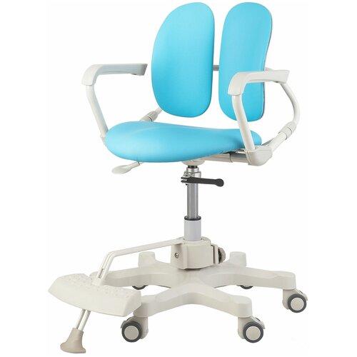 компьютерное кресло duorest kids max детское обивка искусственная кожа цвет светло зеленый Компьютерное кресло DUOREST Kids DR-280DDS детское, обивка: искусственная кожа, цвет: голубой