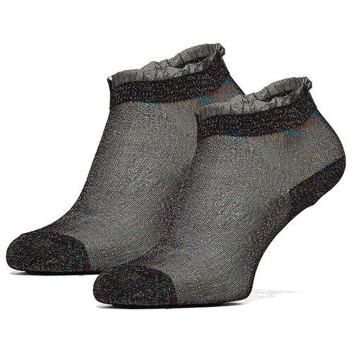 Носки Мадемуазель из легкого материала, устойчивого к износу Le Cabaret (черный; золотистый; фиолетовый) р-р 34-39 1 пара
