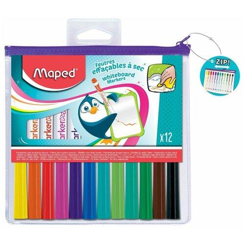 Купить Maped Набор маркеров для доски Marker'Peps, 12 шт. (741817), Маркеры