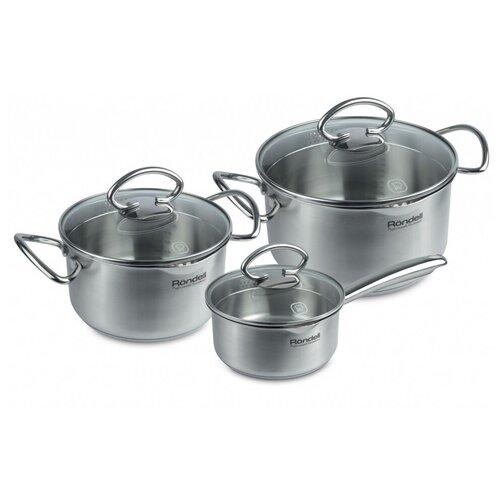 Набор посуды Rondell Edel Rondell RDS-993 6 пр. стальной набор посуды rondell bojole rds 823