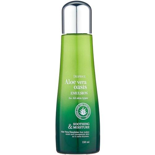 Deoproce Aloe Vera Oasis Emulsion Увлажняющая эмульсия для лица Алое вера, 150 мл
