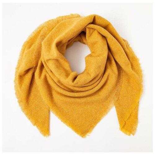 Палантин женский MINAKU однотонный, размер 130*130 см, цвет желтый 5238623