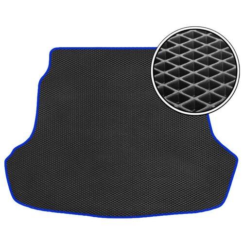 Автомобильный коврик в багажник ЕВА Volkswagen Touareg 2018 - наст. время (багажник) (темно-синий кант) ViceCar