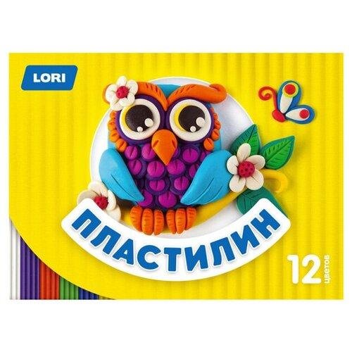 Купить Пластилин LORI Детский, 12 цветов (Пл-017), Пластилин и масса для лепки