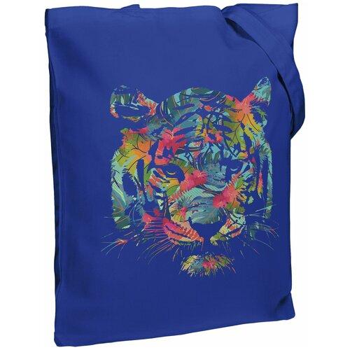 Сумка-шоппер Jungle Look, ярко-синяя