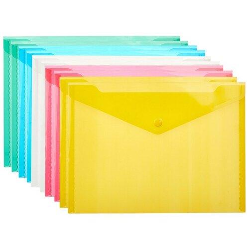 Папка конверт В5, 282x209мм, 180 мкм, Attache в ассортименте, 10шт.уп.