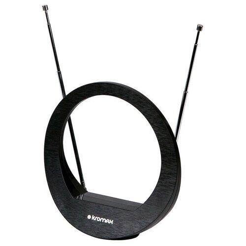 Фото - Комнатная DVB-T2 антенна Kromax TV FLAT-02 комнатная антенна kromax flat 02 black